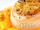 Рецепта Пълнен лук с ориз и гъби